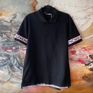 Men's Givenchy Cuban-Fit Logo-Print Pique Polo